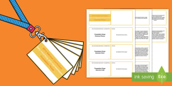 Lanyard Sized Foundation Phase Profile Data Recording and Representation Skills Ladder Cards -  Lanyard Foundation Phase Outcomes, Foundation Phase, Foundation Phase Profile, FPP, Wales, Assessme