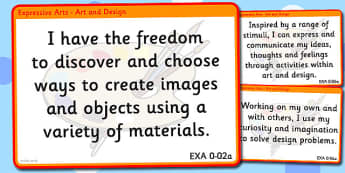 CfE Expressive Arts Experiences and Outcomes for Display Early