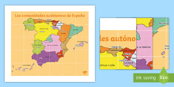 Tapiz de Bee Bot: Las comunidades autónomas - Mapas, provinicias, mapas mudos, mapas en blanco, las ciudades de españa, comarcas, concejos, comun