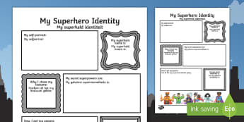 Superhero Transition Writing Frame English/Afrikaans - Superhero Transition Writing Frame - superheroes, writing aid, Nursery Transition, reception transit