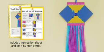 Diwali Kandil Lantern Craft Instructions - diwali, kandil, lantern, craft, instructions