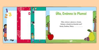 Skipping Rhymes Rannta Scipeála Gaeilge - gaeilge, irish, yard time, play, skipping, rhymes, oral language, PE