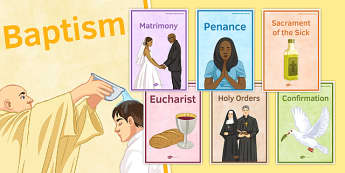Seven Sacraments Display Posters - catholic, catholocism, church, display, god, re, religious, education, jesus