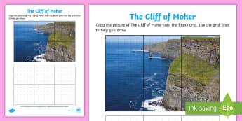 The Cliffs of Moher Art Activity Sheet - ROI - The World Around UsWAU, worksheet, Irish