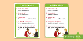 ROI Irish Language Conversation Cards Flashcards - ROI - Irish Language Week Gaeilge Resources - 1st-17th March,Irish