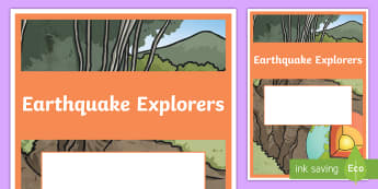 Earthquake Explorers Year 6 Earth and Space Sciences Editable Book Cover - primary connections, earthquake magnitude, earthquake causes, Grade 6, Australian Curriculum science