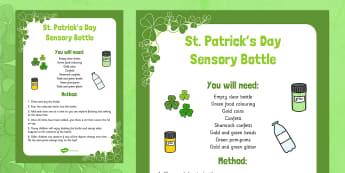 St. Patrick's Day Sensory Bottle - St Patrick's Day, sensory bottle, sensory, bottle, eyfs