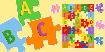 Large Alphabet Jigsaw - alphabet, jigsaw, activity, puzzle, game