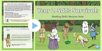 Year 2 SATs Survival: Reading Skills Revision PowerPoint 9 - SATs Survival Materials Year 2, SATs, assessment, 2017, English, SPaG, GPS, grammar, punctuation, sp
