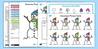 Describe a Snowman EYFS Adult Input Plan and Resource Pack - EYFS, Early Years planning, winter, seasons, story, The Snowman, Raymond Briggs, Literacy, descriptive writing