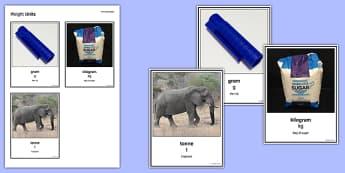 Maths Intervention Weight Unit Cards - SEN, special needs, intervention, maths, measure, weight