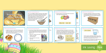 UKS2 Maths Reading Scales Easter Baking Challenge Cards - UKS2, Upper KS2, Year 5 and Year 6, Y5&6, Maths, challenge,  estimate, compare and calculate differe