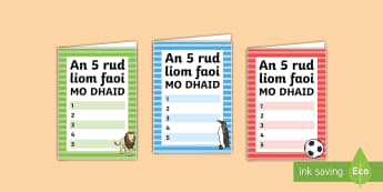 TTeimpléad Chárta: An 5 Rud Is Fearr Liom Faoi Mo Dhaid. - 5 Things I Love About Dad Fathers Day Card Template, Teimpléad Chárta: an 5 rud is fear liom faoi