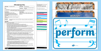 EYFS Winter Walk Music Adult Input Plan and Resource Pack