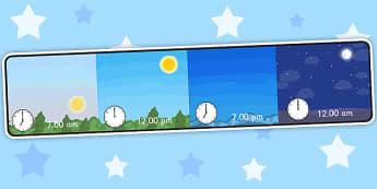 Day and Night Time Display - day, night, display, class display