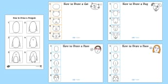 How to Draw Step by Step - art, creative, drawing, eyfs, ks1, characters