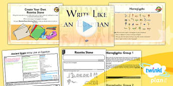 PlanIt - History UKS2 - Ancient Egypt Lesson 5: Write Like an Egyptian Lesson Pack