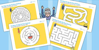 The Magic Porridge Pot Differentiated Maze Activity Sheet Pack, worksheet