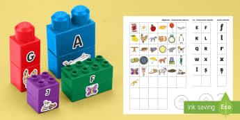 Alfabetar pentru cuburile de construit Joc - Alfabetar pentru cuburile de construit Joc,Romana, alfabet, alfabetul, literele alfabetului, litere,