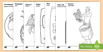 Fairtrade Colouring Pages English/Spanish - Fairtrade Colouring Sheets - fairtrade, colouring, colour, sheets, colering, colourng, couloring, EA