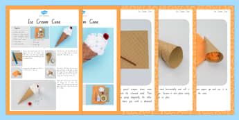 Ice Cream Cone Craft Instructions - nz, new zealand, craft, instruction, ice cream