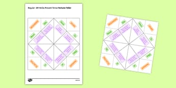 Regular ER Verbs Present Tense Fortune Teller - French