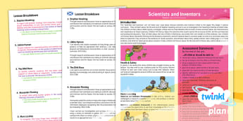 CfE Second Level Science Y6 Scientists and Inventors PlanIt Overview - science, inventor, famous, inventions, physicist