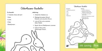 Anleitung Osterhasen basteln Anleitung - Frühling, Jahreszeiten, Ostern, Osterhase, basteln, spring, seasons, Easter, Easter rabbit, crafts,