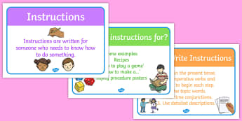 Instructions Writing Display Posters - intructions, instructions posters, writing instructions posters, how to write instructions, writing instructions