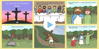 Powerpoint de la historia de Semana Santa - presentación, PowerPoint, Semana Santa, Pascua