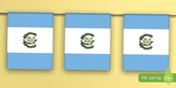 Guatemala Flag Bunting - guatemala, flag, display bunting, display, bunting