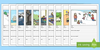 Picture and Prompts Writing Template - writing, narrative, story frame, story map, story template, sequencing, narrative template