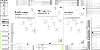 Key Stage 2 Arithmetic Half Practice Tests - arithmetic, tests, arthimetic