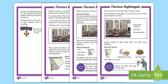 KS1 Florence Nightingale Differentiated Fact File - EYFS/KS1 Florence Nightingale's Birthday (12.5.17), 12th May, Florence Nightingale, KS1 Florence Ni