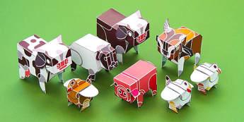 Enkl 3D Animal Models - enkl, 3d, animal models, animals, models, paper, craft