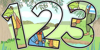 The Wind in the Willows Themed Display Numbers - number, displays