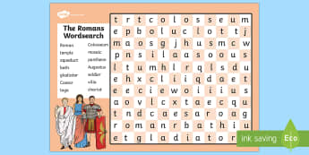 The Romans Wordsearch - romans, roman, history, history games