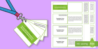 Lanyard-Sized Foundation Phase Outcomes Planning Template - Foundation Phase, foundation phase, outcomes, foundation phase outcomes, lanyard, wales, planning, a