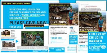 Unicef Nepal Earthquake Bring a Pound Day Resource Pack - unicef