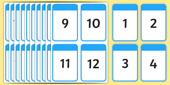 0-120 Digit Cards - digit cards, digit, cards, numbers, 1-20