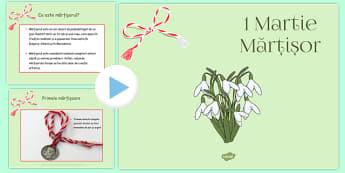 1 Martie Martisor, Prezentare Powerpoint  - traditii, origini
