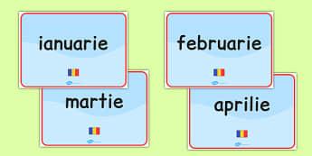 Lunile anului, Planse - calendar clasa