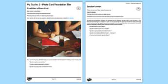 Mes études 2 Carte photo Foundation Tier - Studies, étude, education, éducation, photo, picture, card, foundation, french, france, francais, gcse, practice