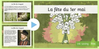 PowerPoint : La fête du 1er mai - Le 1er mai, cycle 2, cycle 3,  KS2, 1st May, fête du travail, muguet, labour day, PowerPoint, origi