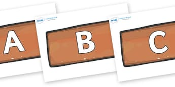 A-Z Alphabet on Bricks - A-Z, A4, display, Alphabet frieze, Display letters, Letter posters, A-Z letters, Alphabet flashcards