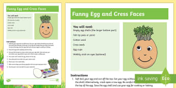 Easter Egg Funny Faces Activity - Easter, Craft, Easter Eggs