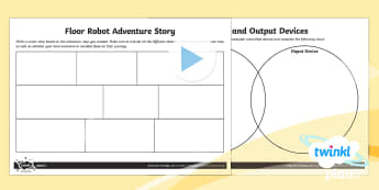 PlanIt - D&T UKS2 - Programming Adventures Home Learning Tasks - Bee Bot, floor robots, adventure map, input, output, devices
