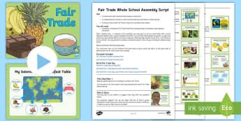 Fair Trade Whole School Assembly Pack -  Fair trade, fairtrade, Fairtrade, Fairtrade Day, fair trade day, Fair Trade Day, 13th May, where fo