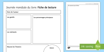 World Book Day Fact File Activity Sheet French - KS3, French, World Book Day, journée mondiale livre, factfile, fiche, lecture.,French