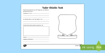 KS2 Tudor Shields Activity Sheet - KS2, year 3, yr 3, y3, year 4, yr 4, y4, year 5, yr 5, y5, year 6, yr 6, y6, Tudor shields, Tidors,